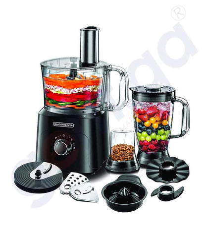 Buy Black & Decker 750w Food Processor 34 Funct. Doha Qatar