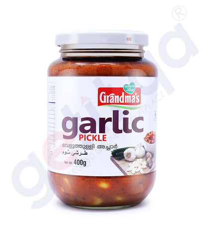 Buy Grandma's Garlic Pickle 400g Price Online Doha Qatar
