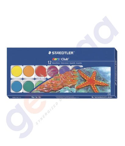 BUY STAEDTLER NORIS CLUB WATER COLORS SET 12-ST-888-NC12 IN QATAR