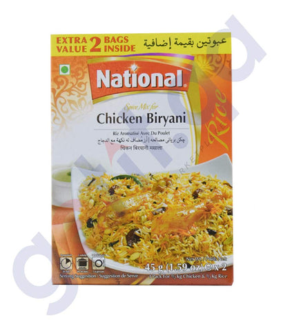 BUY NATIONAL CHICKEN BIRYANI MASALA (2X45GM) ONLINE IN QATAR