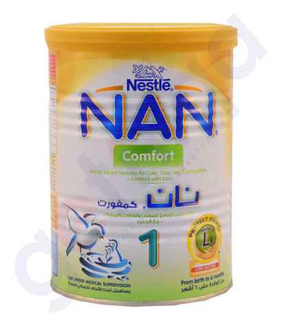 Buy Nestle Nan Comfort Baby Food 400gm Online in Doha Qatar