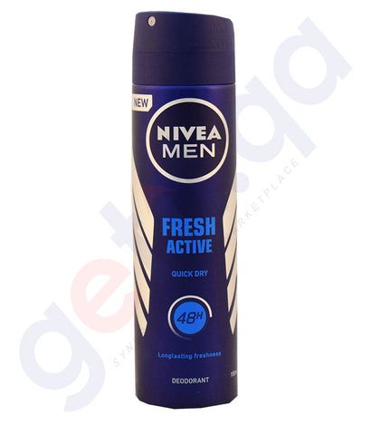 Buy Nivea Men Fresh Active Quick Deodorant in Doha Qatar