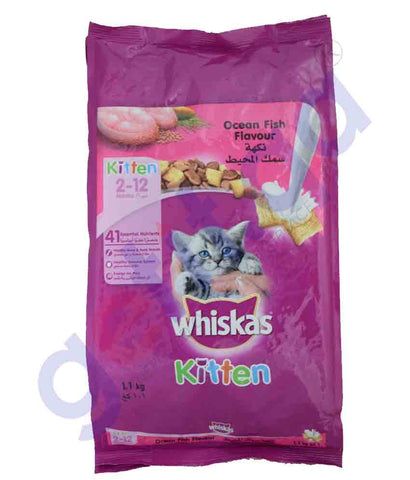 WHISKAS KITTEN OCEAN FISH FLAVOUR 1.1KG