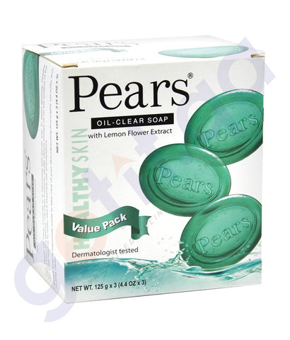 BUY PEARS SOAP OIL CARE 3PACK 125GM GREEN ONLINE IN QATAR