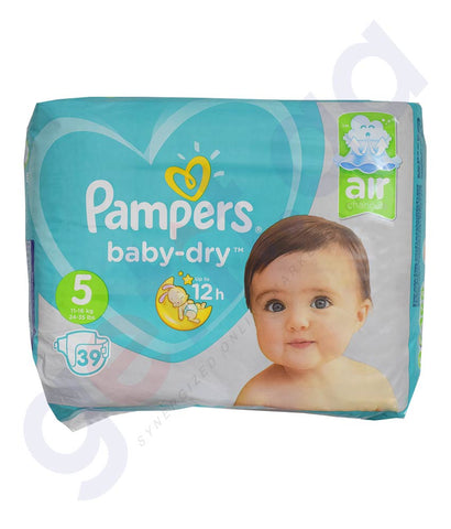 Buy Pampers ML Diapers S5 4x39 pieces Online in Doha Qatar