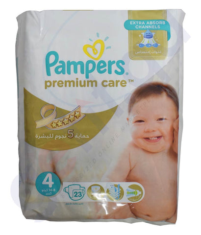 Buy Pampers Premium Care Size 4 8-14kg 23 Pcs in Doha Qatar