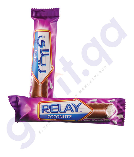 BUY BEST QUALITY RELAY COCONUTZ BARS-20GM ONLINE IN DOHA QATAR