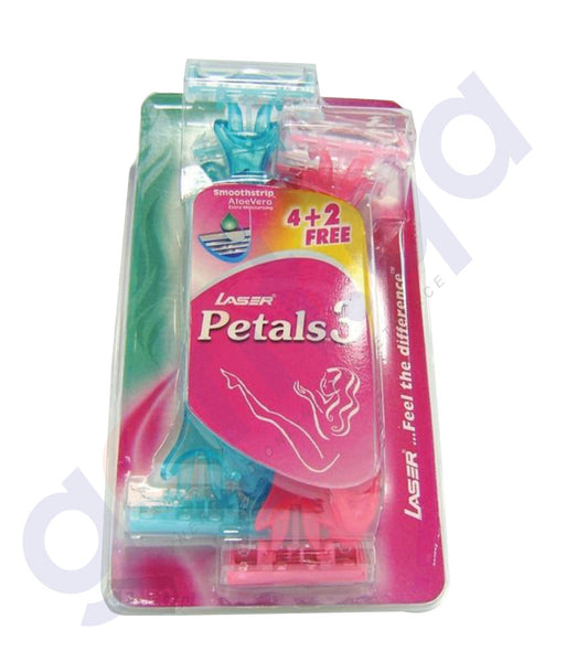 BUY BEST PRICED LASER PETALS3 4+2 TRPLE BLISTER CARD ONLINE IN QATAR
