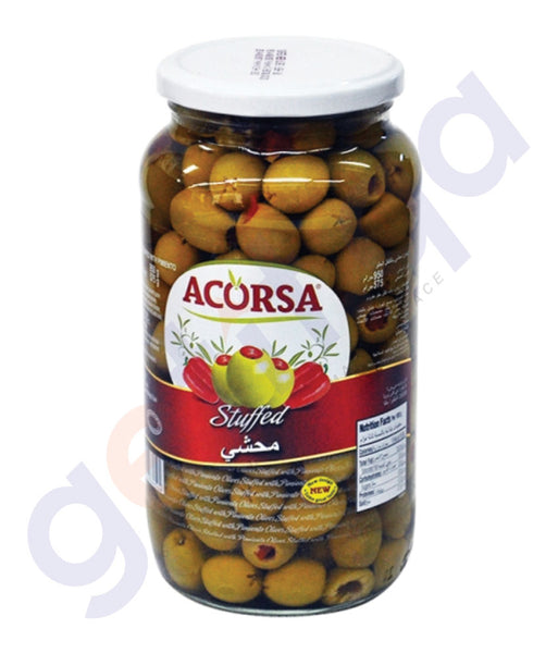 BUY BEST PRICED ACORSA OLIVES GREEN STUFED JAR 575GM IN QATAR
