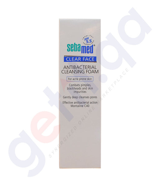 Buy Sebamed Clearface Anti-Bacterial foam in Doha Qatar