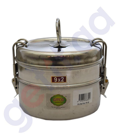 Buy Gitco Steel Picnic Tiffin 9x2 Price Online Doha Qatar