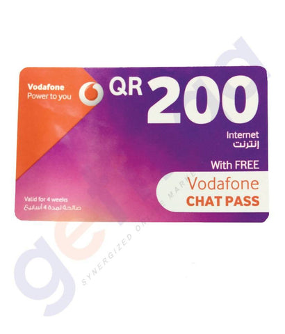 SHOP FOR VODAFONE INTERNET CARD 200 ONLINE IN QATAR
