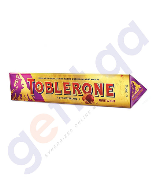 Buy Best Quality Toblerone Fruit & Nut 360gm Online in Qatar