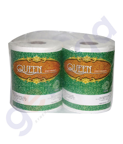 Buy Best Priced Queen Maxi Roll Twin Pack 2x250 Mtrs in Doha Qatar