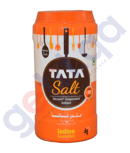 Buy Tata Salt-Vacuum Evaporated Iodised 750g Online Qatar
