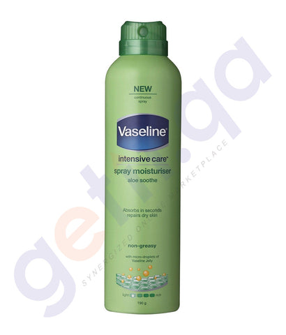 BUY VASELINE 190GM ALOE SOOTHE MOISTURISER SPRAY ONLINE IN QATAR