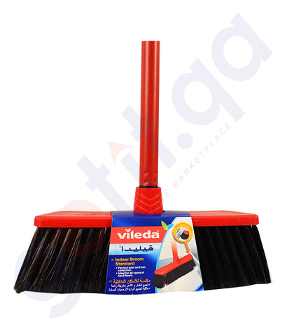 Buy Vileda Indoor Broom Standard Hard Brush in Doha Qatar
