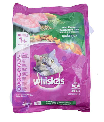 WHISKAS TUNA FLAVOUR 480GM