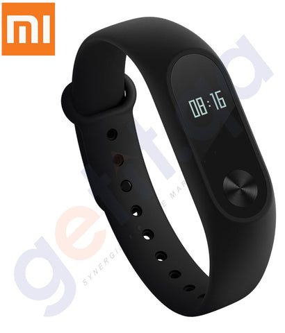 a Xiaomi Mi Band 2 Heart Rate Monitor Smart Wristband With OLED Display, Black