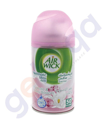 AIR FRESHNER - AIR WICK 250 ML MAGNOLIA & CHERRY BLOSSOM AUTOMATIC SPRAY REFILL