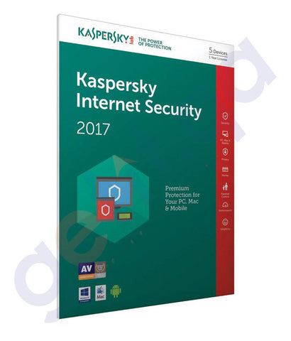 ANTI VIRUS - KASPERSKY INTERNET SECURITY 2017 SINGLE USER LICENSE