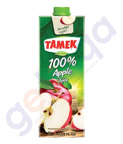 Buy Tamek 100% Apple Juice 1 Ltr Price Online in Qatar