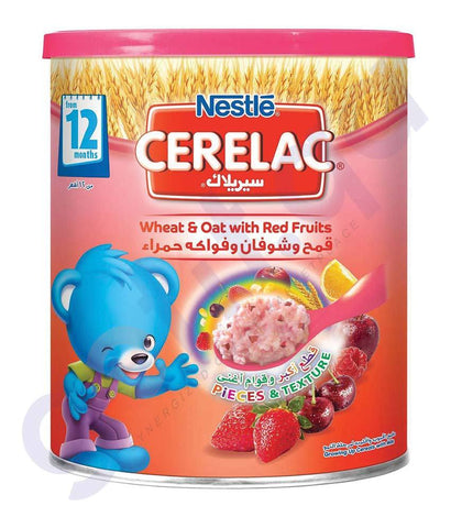 BABY FOOD - NESTLE CERELAC 12 MONTHS WHEAT & OAT WITH RED FRUITS- 400GM
