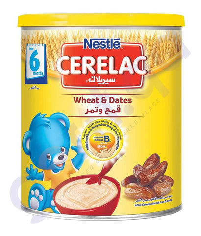 BABY FOOD - NESTLE CERELAC 6 MONTHS WHEAT &  DATES- 400GM