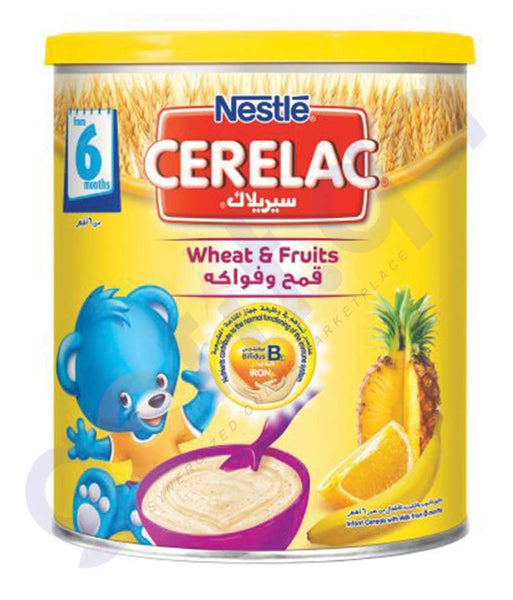 BABY FOOD - NESTLE CERELAC 6 MONTHS WHEAT &  FRUITS- 400GM