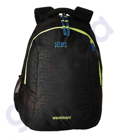 BAGS - WILDCRAFT WIKI BACKPACK BRICKS 6 BLACK