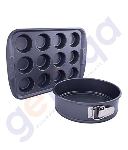 "BAKING SET - PRESTIGE 9"" SPRING FORM & 12 CUP MUFFIN PAN - PR57997"