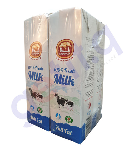 get BALADNA LONG LIFE MILK FULL FAT 1 LTR at getit.qa exclusively