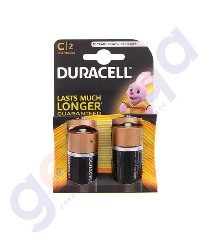BATTERIES - DURACELL ULTRA BATTERY C 2PIECE PACK
