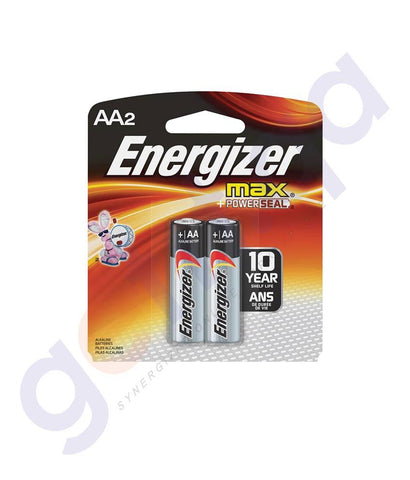 BATTERIES - ENERGISER MAX+ POWER SEAL AA BATTERY -E91BP2