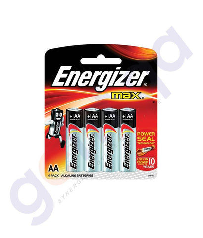 BATTERIES - ENERGISER MAX+ POWER SEAL AA BATTERY - E91BP4