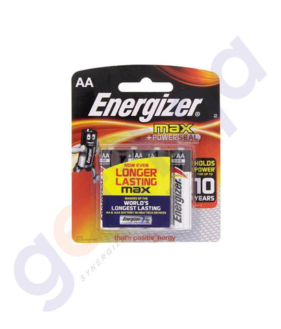 BATTERIES - ENERGISER MAX+ POWER SEAL AA BATTERY- E91BP8