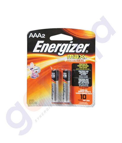 BATTERIES - ENERGISER MAX+ POWER SEAL AAA BATTERY - E92BP2