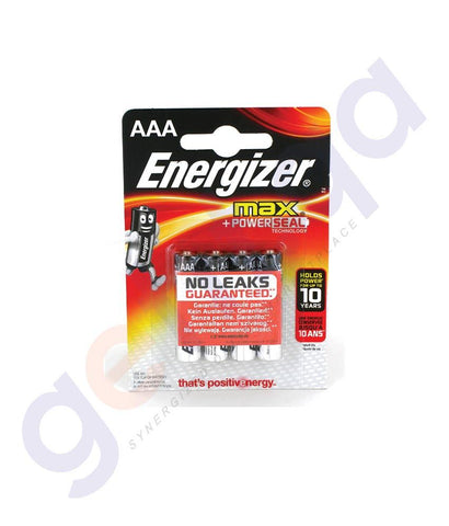 BATTERIES - ENERGISER MAX+ POWER SEAL AAA BATTERY - E92BP4
