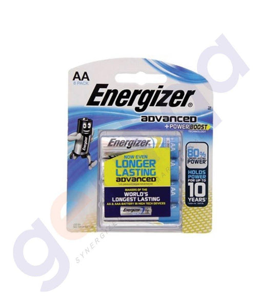BATTERIES - ENERGIZER ADVANCED + POWER BOOST AA BATTERY -X91RP8