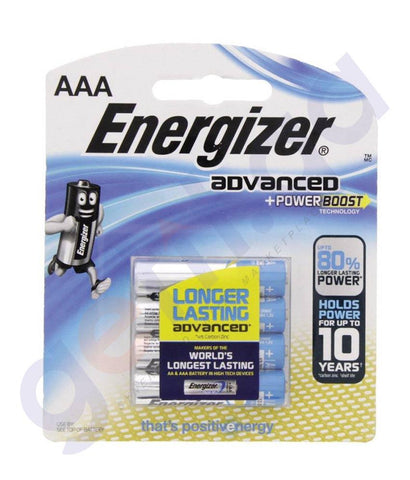 BATTERIES - ENERGIZER ADVANCED +POWER BOOST AAA BATTERY -X92RP4