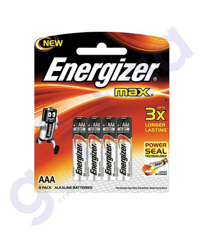 BATTERIES - ENERGIZER MAX POWER SEAL AAA BATTERY- E92BP8