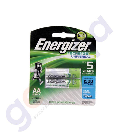 BATTERIES - ENERGIZER RECHARGEABLE AA BATTERY - NH15