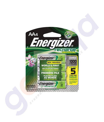 BATTERIES - ENERGIZER RECHARGEABLE AA BATTERY - NH15BP4