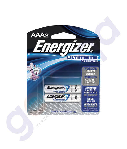BATTERIES - ENERGIZER ULTIMATE LITHIUM AAA BATTERY - L92BP2