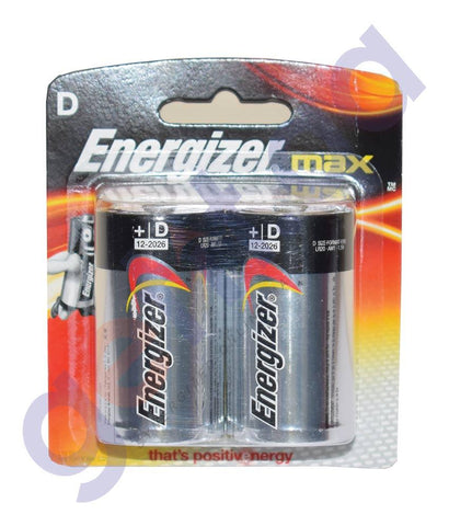 Battery - ENERGIZER BATTERY  MAX D SIZE (1X2)