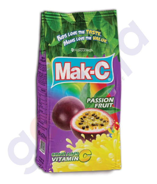 BEVERAGES - MAK-C PASSION FRUIT POUCH 750GM