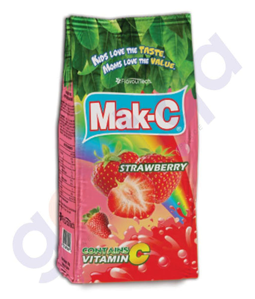 BEVERAGES - MAK-C STRAWBERRY POUCH 750GM