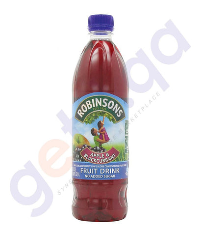 BEVERAGES - ROBINSON'S APPLE & BLACKCURRANT  NO ADDED SUGAR 1LTR