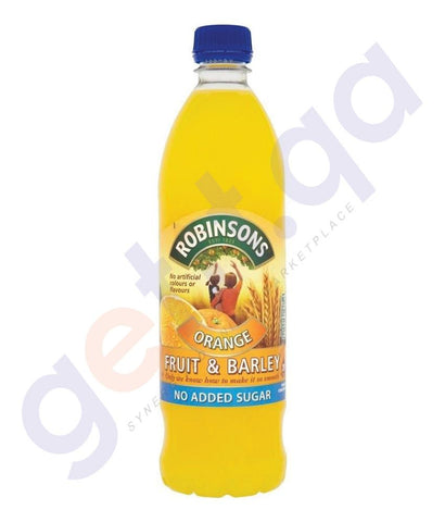 BEVERAGES - ROBINSON'S FRUIT & BARLEY ORANGE NO ADDED SUGAR 1 LTR