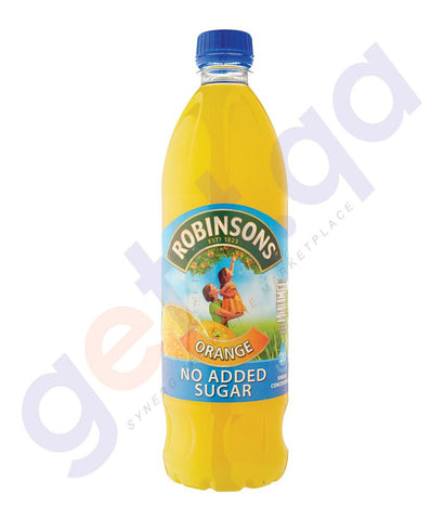 BEVERAGES - ROBINSON'S ORANGE FRUIT SQUASH  NO ADDED SUGAR 1LTR